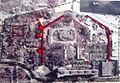 Geschichtspark Überreste des Zellengefängnisses (Luftbild des Senats 1997).JPG