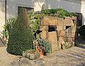 Giardino del museo archeologico, tomba del crocifisso del tufo da orvieto, V-V sec ac. 01.JPG