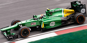 Caterham F1 - Giedo van der Garde at the 2013 Malaysian Grand Prix.