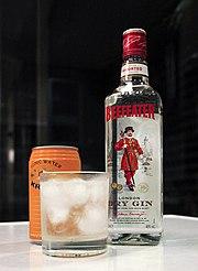 С чем обычно смешивают джин Вермут - в сухом коктейле мартини Тоник - в...