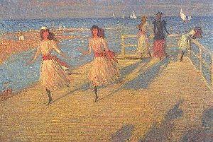 Philip Wilson Steer - Girls Running: Walberswick Pier (Tate)