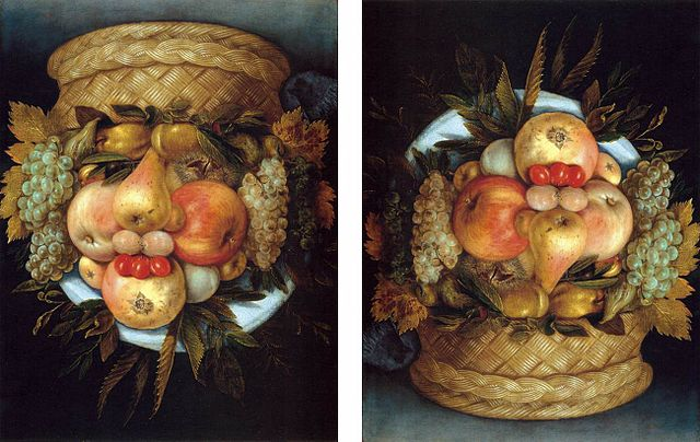 Fichier:Giuseppe Arcimboldo - Reversible Head with Basket of Fruit -  WGA00843.jpg — Wikipédia