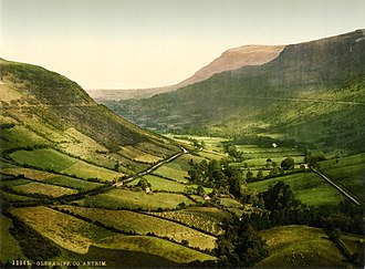 Glens of Antrim - 19th century image of Glenariff