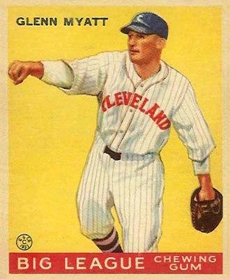 Glenn Myatt - Glenn Myatt 1933 Goudey baseball card