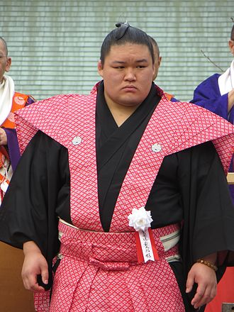 2014 in sumo - Gōeidō, pictured in his hometown of Neyagawa in February, was runner-up in March.