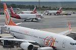 Gol and TAM aircraft at Brasilia International Airport.jpg