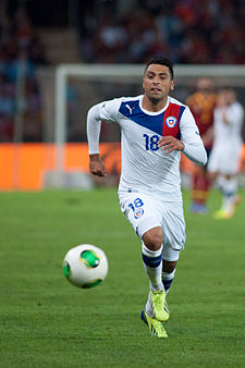 Gonzalo Jara (2) - Spain vs. Chile, 10th September 2013.jpg