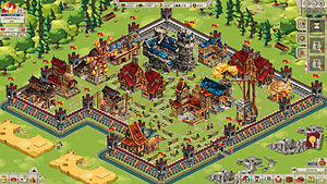 Isometric graphics in video games and pixel art - Image: Goodgame Empire Screenshot Burg