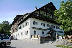 Pension (lodging) - A pension in the village of Gosau, Upper Austria