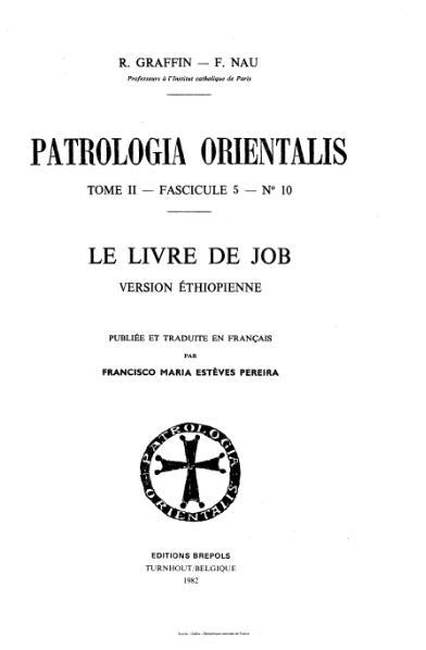 File:Graffin - Nau - Patrologia orientalis, tome 2, fascicule 5, n°10 - Le Livre de Job.djvu
