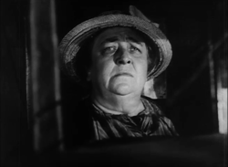 L'actriz Jane Darwell, en una scena d'a cinta The Grapes of Wrath (1940).
