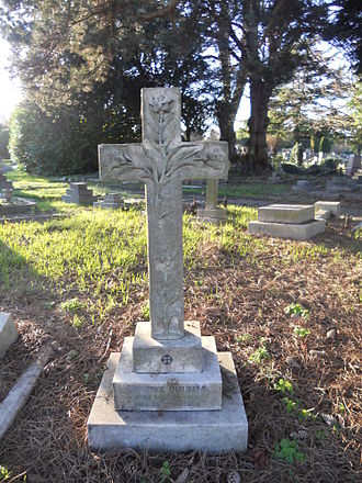 Laurence Oliphant (author) - Grave of Oliphant in Twickenham Cemetery in 2014