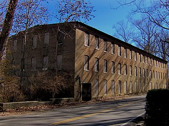 Rock Island State Park (Tennessee) - Great Falls Cotton Mill, listed on the National Register of Historic Places in 1982.