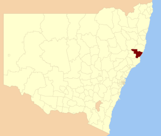 City of Greater Taree - Location in New South Wales