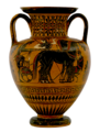 Greek - Black-figure Amphora - Walters 48224 - Side A glare reduced white bg.png