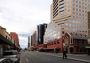 Grenfell Street, Adelaide - Grenfell Street, looking east from Gawler Place.