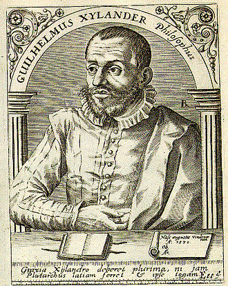 Wilhelm Xylander - Engraving from Bibliotheca chalcographica