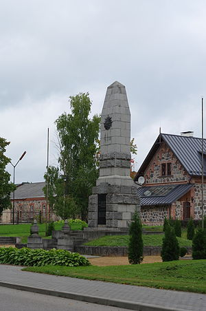 Gulbene - Image: Gulbene War of Independence Monument, 2013