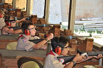 Great Salt Lake Council - The gun range at Camp Tracy in the Millcreek Canyon Camps is typically the first time most Scouts are introduced to firearms.