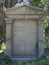 Gustav von Mauthner and Weiss von Weissenhall grave, Vienna, 2017.jpg
