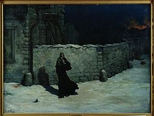 Sœur de la Charité sauvant un enfant. Épisode du siège de Paris