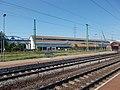 Gyárváros railway station, Kravtex bus factory, 2018 Győr.jpg