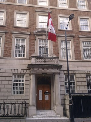Macdonald House, London - Image: HC of Canada, London 1