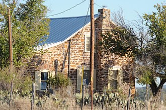 National Register of Historic Places listings in Mason County, Texas - Image: HEINRICH AND FREDERICKA HASSE HOUSE, ART, MASON COUNTY, TX