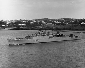 HMS Whirlwind (R87) - Whirlwind after conversion to Type 15 Frigate, c1965 (IWM)