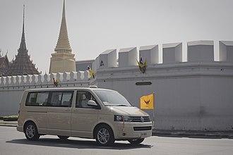 Royal Standard of Thailand - Image: HM King Bhumibol 2010 12 5 1