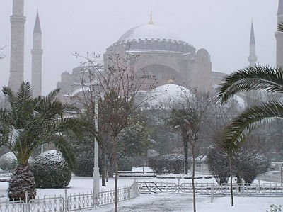 It can be cloudy, rainy, or even snowy in Istanbul