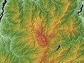 Hakusan Volcano Relief Map, SRTM-1.jpg