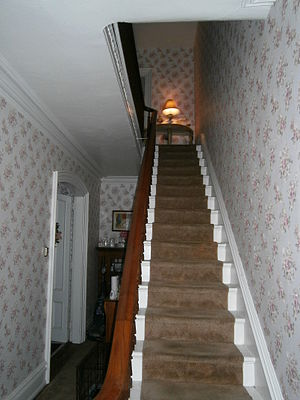 Hale-Whitney Mansion - Interior view of main stairwell