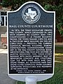 Hall County Courthouse Historical Marker Memphis, Texas, United States.jpg