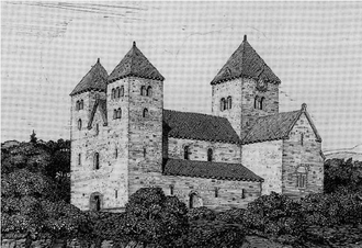 Ancient Diocese of Hamar - The old cathedral of Hamar