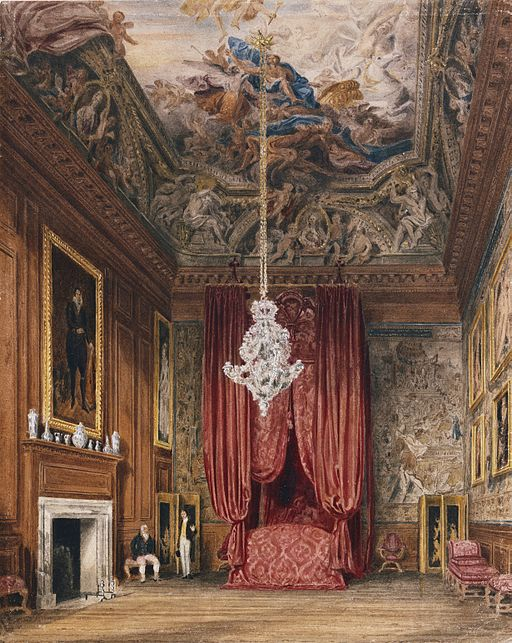 Hampton Court, Queen Mary's State Bedchamber, by Richard Cattermole, 1816 - royal coll 922134 313706 ORI 2