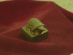 Yang Province - A turtle-shaped gold seal of the Prince of Guangling in the Han dynasty. Excavated in Ganquan Town, Hanjiang District, Yangzhou in 1980, it is now on display in the Han Guangling Royal Tomb Museum in Yangzhou.