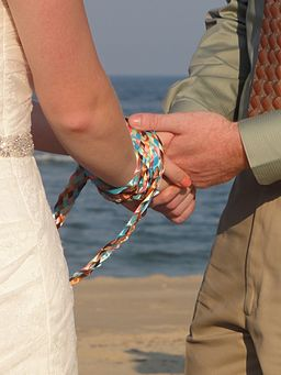 Handfasting using a braided cord 2012