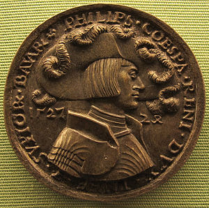 Philip, Duke of Palatinate-Neuburg - A medal of Hans Daucher portraying Philipp von Pfalz-Neuburg in 1527.