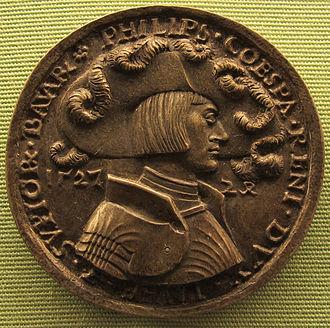 Philip, Duke of Palatinate-Neuburg - A medal of Hans Daucher portraying Philipp von Pfalz-Neuburg in 1527.