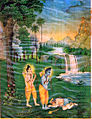 Hanuman meets Sri Rama in Forest.jpg