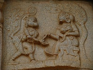 సీత చూడామణిని తీసుకొంటున్న హనుమంతుడు