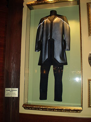 "Amir Derakh - Amir Derakh's ""Fiction"" Video outfit at the Hard Rock Cafe in San Francisco, California."