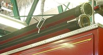 Hard suction hose - Image: Hard suction large on engine