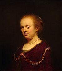 Harmensz van Rijn REMBRANDT y Taller - Retrato de mujer joven - Google Art Project.jpg