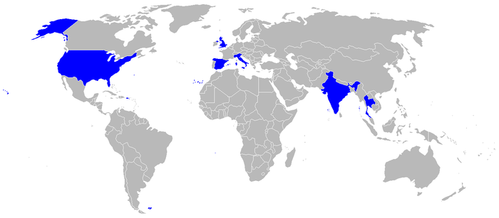 Operators of the Harrier (all variants) Harrier operators.png