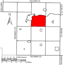 Location of Harrison Township in Henry County