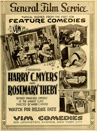 Harry Myers - Advertisement (1916)