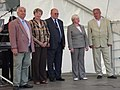 Hassan Charfo, Zuzka Bebarová-Rujbrová,Vladimír Remek, Věra Flasarová, Miloslav Ransdorf, EP election campaign, Brno.jpg