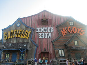Hatfield–McCoy feud - The Hatfield–McCoy feud is featured in a musical comedy dinner show in Pigeon Forge, Tennessee.